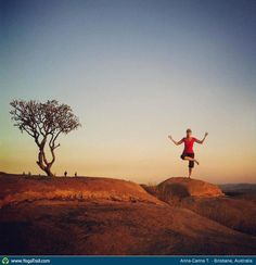 "Yoga Poses Around the World: ""Tree Pose - by Anna-Carina T., Brisbane, Australia"""