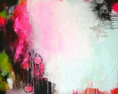 Original large abstract painting framed painting by ARTbyKirsten, $349.00