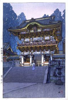 Yomei Gate, by Yoshida Hiroshi, 1937.