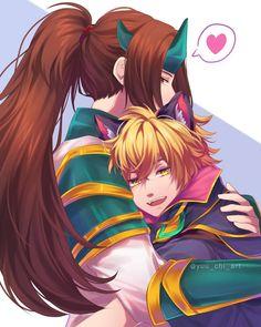 Harith x Zilong Bang Bang, Moba Legends, Legend Games, Mobile Legend Wallpaper, Undertale Memes, Wolf Love, I Love Anime, Cute Love, League Of Legends