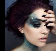 Mermaid makeup. Halloween ideas..