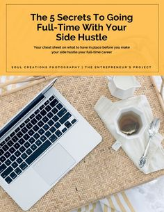 Soul Creations Photography // 5 Secrets to go full-time with your side hustle. The cheat sheet on knowing when to make the leap. // No one told you that real hustle tends to feel like you are in over your head.  My goal is to give you the cheat sheet I used to check when you start contemplating if it's time to make the leap.
