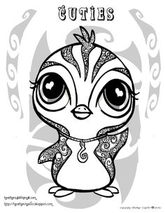 Creative Cuties: free penguin coloring page