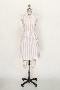 Vintage 1950's striped dress from Dalena Vintage