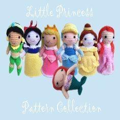 Crochet pattern   All princess Buy set save 5 by seaandlighthouse, $30.00