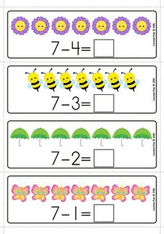 Spring Math Centers for Kindergarten - Math Preschool Math, Kindergarten Math, Summer Preschool Themes, Fifth Grade Math, Grade 3, Second Grade, Christmas Math, Thanksgiving Math, Kids Math Worksheets