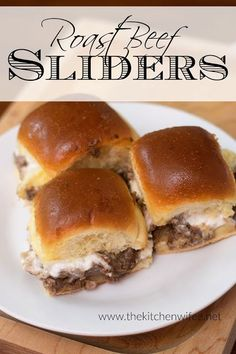 Roast Beef Sliders Recipe - Beef Recipes - Take your leftover pot roast to the next level with this delicious recipe for my Roast Beef Sliders. Perfect for quick and easy weeknight meals or football season! Cooking Roast Beef, Roast Beef Recipes, Sausage Recipes, Baby Food Recipes, Tofu Recipes, Homemade Sweet Potato Fries, Roast Beef Sliders, Leftover Roast Beef, Slider Recipes