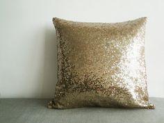 Coussins/couverture de Sequin or foncé, décor de vacances, Throw Pillow oreiller décoratif, Glitter oreiller, oreiller de Sparkle