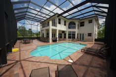 two story pool enclosure Pool Screen Enclosure, Screen Enclosures, Pool Enclosures, Pool Cage, Outside World, Two Story Homes, Outdoor Living, Outdoor Decor, Homesteading