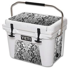 MightySkins Protective Vinyl Skin Decal for YETI Roadie 20 qt Cooler wrap cover sticker skins Floral Retro * For more information, visit image link.