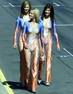 Australian F1 Hot Wheels paddock girls on grid of Formula One grand prix