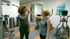 Lauren Thompson (@laurenthompsontv ) and @WorldLongDrive competitor Troy Mullins (@trojangoddess ) hit the Golf Channel gym to go over Troy's warm up routine. #WellnessWeek http://ift.tt/2nYJh21