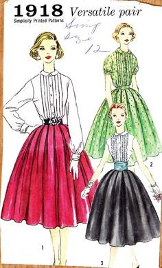 1958 Pattern    (A pattern from the year I was born - shows the styles of the time)