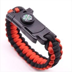 Tactical Paracord Military Bracelet with knife and compass Clasp Type: Hidden-safety-clasp Metals Type: Stainless Steel Compass Bracelet knife Overall Length: Sm: Md: Lg: Blade Length: Braided Bracelets, Paracord Bracelets, Bracelets For Men, Outdoor Survival, Outdoor Camping, Outdoor Life, Outdoor Gear, Emergency Bracelet, Parachute Cord Bracelets