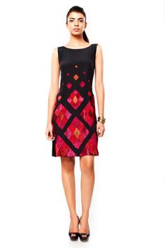 f12bb8f263405 Printed dresses with geometric shapes are going to be a rage this autumn. Ritu  KumarIndian ...