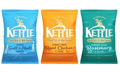 Kettle Chips launches Tastes of Britain range in UK - FoodBev Media Kettle Chips, Food Packaging Design, Roast Chicken, Britain, Product Launch