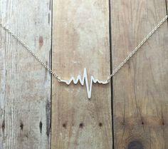 Electrocardiogram EKG Heartbeat Necklace