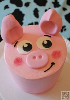 6. Pig Cake - 50 Easy Make #Animal Cakes for #Every Occasion ... → Food #Teddy