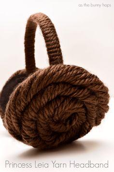 How to make Princess Leia yarn hair