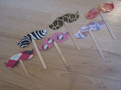 Duct tape mustache cup cake toppers by simplyborncrafty on Etsy, $5.50
