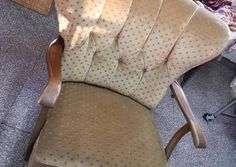 Piękny stary fotel na sprężynach. Super stan!