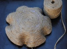 Jute Rope Bowl - #art, #diy, craft