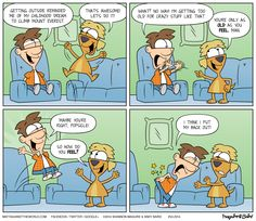 Too Old // Matt Against the World #funny #comicstrip #oldtimer