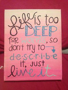 C.S. Lewis quote. Canvas painting! Dorm decor