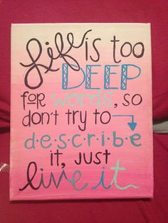 C.S. Lewis quote. Good inspirational saying for your wall or just on a sticky note to keep the good times rolling.