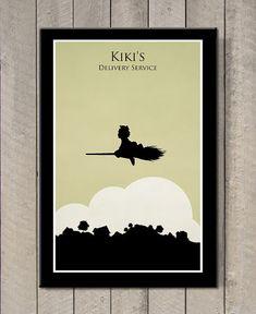 Hayao+Miyazaki+poster++Kiki's+Delivery+Service+by+MINIMALISTPRINTS