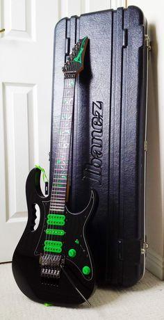 Ibanez Jem 777VBK + Ibanez Case The 6 string version of the Black and Green monster. #IbanezGuitars