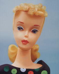 'Apple Print Sheath' Barbie, oil on canvas, by Judy Ragali