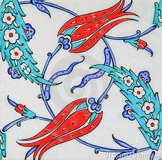 Turkish tiles - Tulip design by Orhan Çam, via Dreamstime
