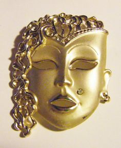 Exotic Ladies Face With Cheek Piercing Earring In One by parkledge, $20.00