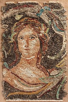 The lady on this Roman #mosaic portrait is really delightful