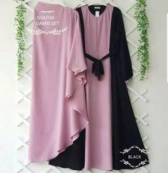 Kode : Shafya Gamis Set IDR : bahan : mosscrepe size : all siZe/ free s. Kebaya Muslim, Islamic Clothing, Kids Patterns, Hijab Dress, Mocca, Fashion Outfits, Womens Fashion, Like4like, Kimono Top