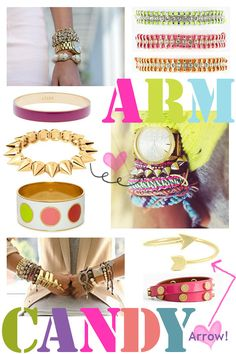 Brights + Gold! Check out our top picks to get your arm party started today! {For Chic Sake} #armparty