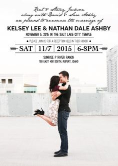kelsey and nathan front wedding announcementscenter piecesldswedding