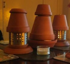 emergency heating using tea lights and terracotta pots. Very efficient and cheap.