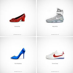 Iconic Shoes Perfectly Symbolize Famous Personalities \
