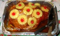 How to Make Glazed Ham with Pineapple and Cherry Garnish