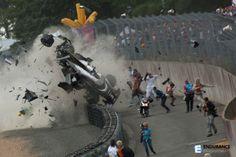 Le Mans, el accidente del AUDI 3 hace dos ediciones.