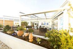 Terrassenverglasung in Linz / OÖ vom Wintergartenbauer Fenster-Schmidinger!
