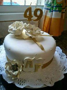 Torta Flores doradas