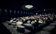 Home Theater Room Design, Home Cinema Room, At Home Movie Theater, Home Theater Rooms, Home Theater Seating, Ticket Cinema, Cinema Art, Cinema Seats, Deco Restaurant