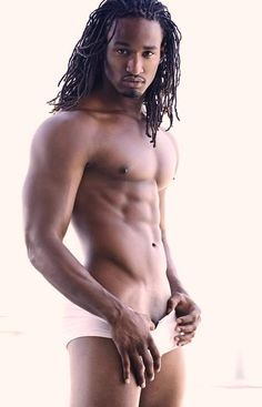 men Nude Black Dreadlocked