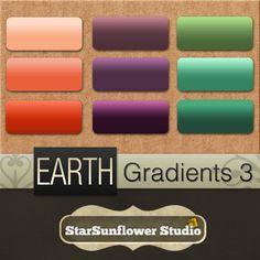 Free Photoshop Gradients - Earth 3 - StarSunflower Studio