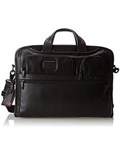 Tumi - Alpha 2 - Compact Large Screen Laptop Leather Brief - Bags and Luggage Laptop Briefcase, Leather Briefcase, Laptop Bag, Leather Portfolio, Computer Bags, Computer Sleeve, Tumi, A 17, Harrods