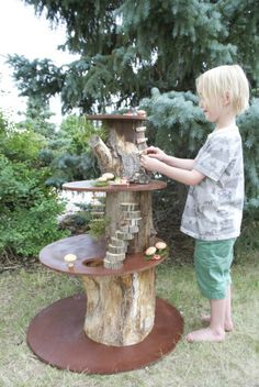 Family reunion and a miniature play tree house (Mermag) - Every year on July . - Family reunion and a miniature play tree house (Mermag) – Every year on July my parents held - Outdoor Play Spaces, Kids Outdoor Play, Backyard Play, Outdoor Fun, Outdoor Learning, Natural Play Spaces, Play Yard, Backyard Games, Outdoor Games