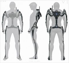 Early exo design done for Advanced Warfare a few years back that i saw in one of the mini artbooks for the game. Robot Concept Art, Armor Concept, Weapon Concept Art, Exoskeleton Suit, Powered Exoskeleton, Arte Dark Souls, Futuristic Armour, Advanced Warfare, Future Soldier